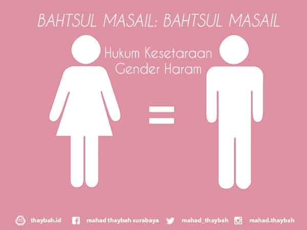 BAHTSUL MASAIL: BAHTSUL MASAIL Hukum Kesetaraan Gender Haram
