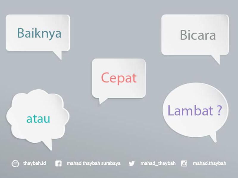 bicara cepat lambat
